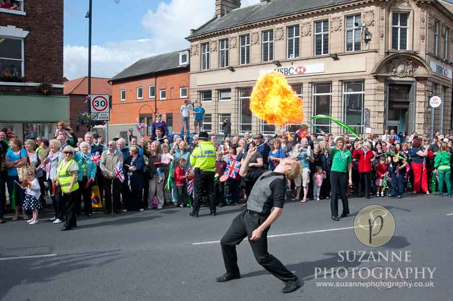 Olympic Torch in Selby North Yorkshire 157